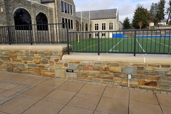 Academic Campus | Loyola Blakefield College | Athletic Field Retaining Wall Cleaning | Towson, MD