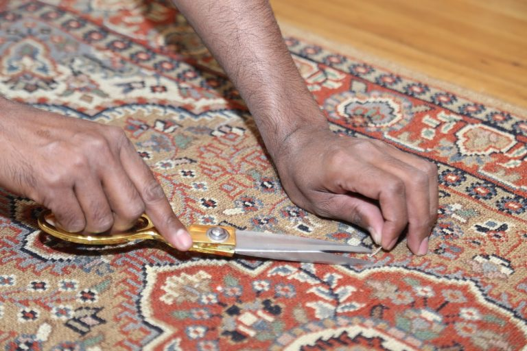 cutting carpet pile