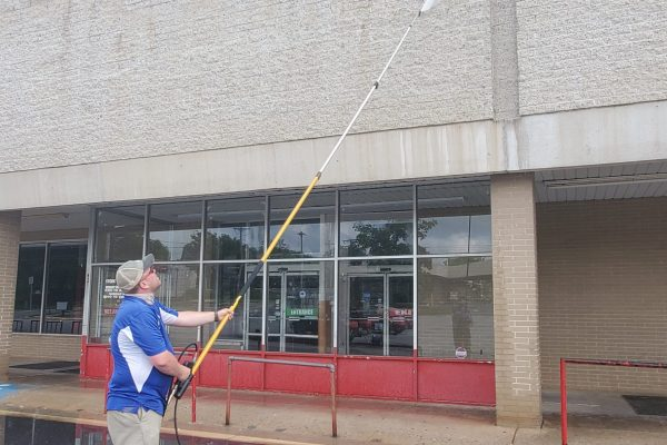 Store Wall | During Pressure Washing Randallstown MD