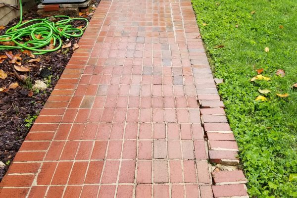 Brick Sidewalk Cleaning | After Pressure Wash | Pikesville MD