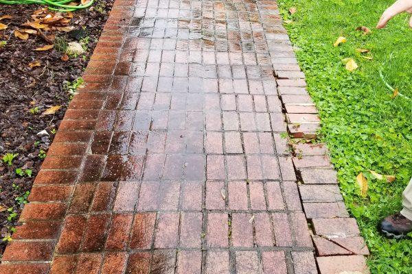 Brick Sidewalk Cleaning | Before Pressure Wash | Pikesville MD