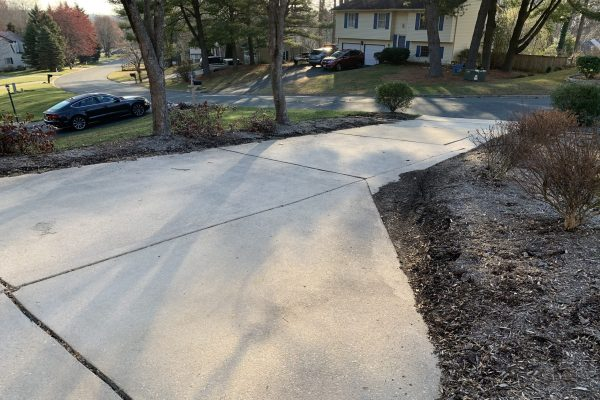 Surface wash and pressure wash of of driveway in Abingdon MD