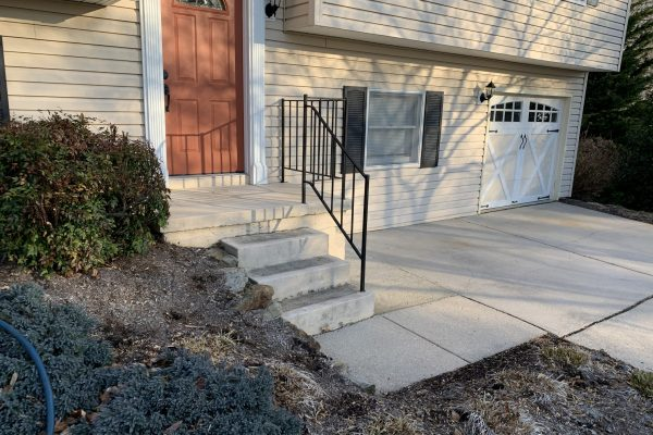 Single Family Home_Porch Steps Concrete Pressure Washed_Abingdon MD