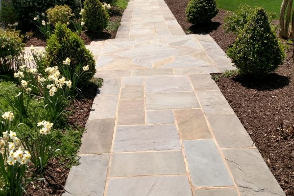 Clean front stone walkway | soft wash | Berwick Ct Bel Air, MD